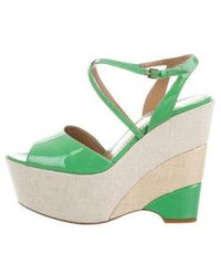 Boutique Moschino - Patent Leather Wedge Sandals - Lyst