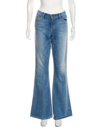 Current/Elliott - The Low Bell Mid-rise Flared Jeans - Lyst