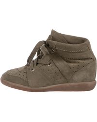 Étoile Isabel Marant - Bobby Wedge Sneakers Olive - Lyst