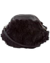 Vanessa Bruno - Fur Crossbody Bag Black - Lyst