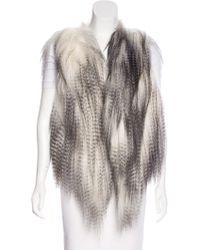 Helen Yarmak International - Tibetan Lamb Fur Vest White - Lyst