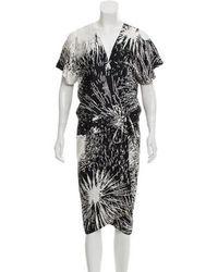 Zero + Maria Cornejo - Printed Silk Dress - Lyst
