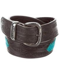 Moschino Jeans - Embroidered Buckle Belt - Lyst
