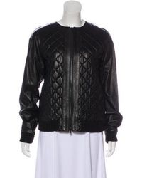 Robert Rodriguez - Quilted Leather Jacket - Lyst