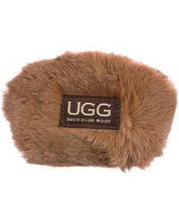 UGG - Zip Coin Purse Brown - Lyst