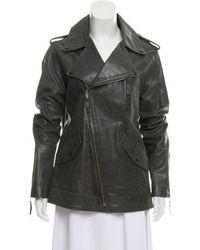 Elizabeth and James - Leather Biker Jacket - Lyst