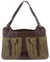 Barbara Bui - Leather-trimmed Shoulder Bag - Lyst