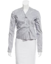 Tess Giberson - Embroidered Cropped Jacket - Lyst