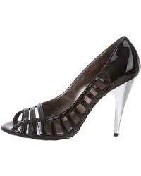 Kors by Michael Kors - Kors By Michael Patent Leather Cage Pumps Black - Lyst