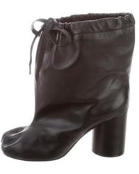 Maison Margiela - Leather Drawstring Boots - Lyst