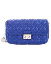 f7b6b7db3993 Lyst - Dior Miss Promenade Flap Bag Black in Metallic