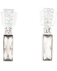 Judith Leiber - Crystal Drop Earrings Silver - Lyst