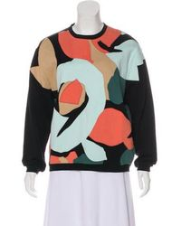 Carven - Oversize Embroidered Sweatshirt - Lyst