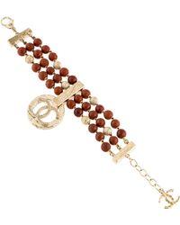 Chanel - Jasper Bead Multistrand Bracelet Gold - Lyst