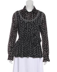 Boutique Moschino - Printed Long Sleeve Top - Lyst