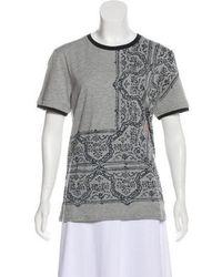 Class Roberto Cavalli - Printed Short Sleeve Top Grey - Lyst