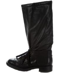 Chanel - Leather Knee-high Boots - Lyst