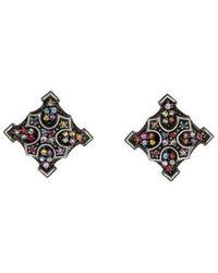 M.c.l  Matthew Campbell Laurenza - Sapphire Maltese Cross Earrings Silver - Lyst