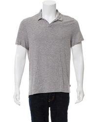Michael Kors - Striped Polo Shirt Grey - Lyst