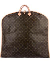 Louis Vuitton - Monogram Garment Cover Brown - Lyst
