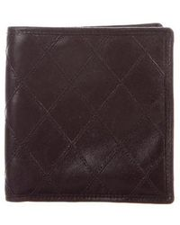 Chanel - Diamond Quilted Bifold Wallet - Lyst
