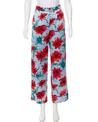 SUNO - Floral Print Wide-leg Pants Multicolor - Lyst