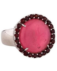 Tagliamonte - Garnet-accented Mother Of Pearl Doublet & Venetian Intaglio Rings Silver - Lyst