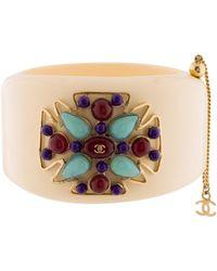 Chanel - Gripoix & Resin Maltese Cross Cuff Gold - Lyst