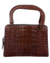 0feb3e6e388f Miu Miu - Miu Embossed Leather Handle Bag - Lyst