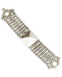 Tom Binns - Noble Savage Crystal Stud Bracelet Silver - Lyst