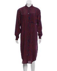 Closed - Abiola Silk-blend Shirtdress W/ Tags Navy - Lyst