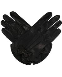 Marc Jacobs - Leather Bow-embellished Gloves - Lyst