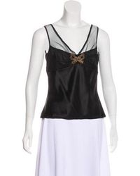 John Galliano - Embellished Silk Top - Lyst