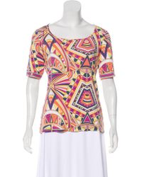 Emilio Pucci - Printed Short Sleeve Top - Lyst