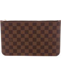 Louis Vuitton - Damier Ebene Neverfull Pochette Brown - Lyst