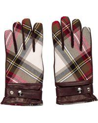 Vivienne Westwood - Leather Plaid Gloves - Lyst