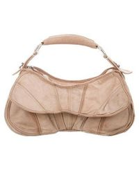 CoSTUME NATIONAL - Leather Satchel Beige - Lyst