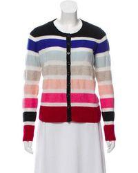 Sonia by Sonia Rykiel - Sonia By Rykiel Wool Striped Long Sleeve Cardigan Multicolor - Lyst