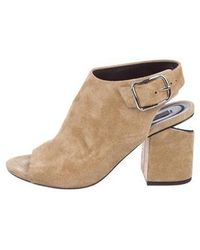 Alexander Wang - Nadia Suede Ankle Boots Tan - Lyst