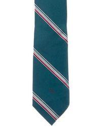 Dior - Striped Silk Tie Blue - Lyst