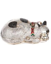 Judith Leiber - Sleeping Cat Minaudiere Gold - Lyst
