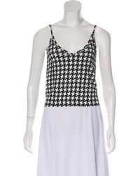 John Galliano - Houndstooth Crop Top - Lyst