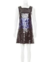 Vera Wang Lavender - Embellished Silk Dress - Lyst