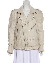 BLK DNM - Leather Moto Jacket Neutrals - Lyst