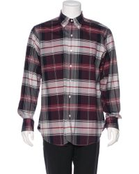 Black Fleece By Brooks Brothers - Fleece Plaid Woven Shirt - Lyst