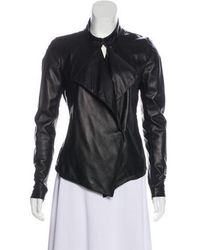 Tess Giberson - Leather Asymmetrical Jacket - Lyst