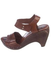 cb6c40bd60bb5f CoSTUME NATIONAL - Leather Studded Sandals - Lyst