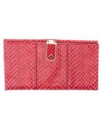 Judith Leiber - Vintage Snakeskin Wallet Red - Lyst