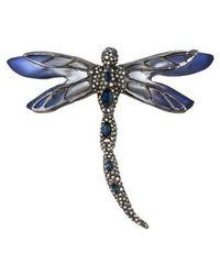 Alexis Bittar - Lucite & Crystal Dragonfly Brooch Silver - Lyst