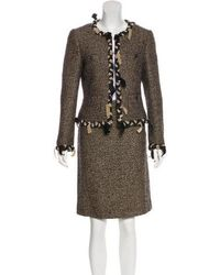 Moschino - Virgin Wool-blend Skirt Suit - Lyst